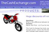 TheCashExchange.com products page